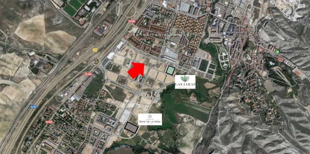 Nuevos terrenos para equipamientos deportivos en Cuarte de Huerva
